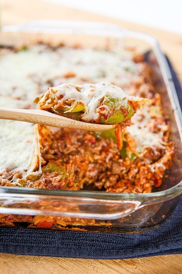 undone stuffed pepper casserole